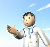Doctor is  seeking  handshake. Royalty Free Stock Photography