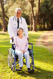 Doctor senior patient Stock Photography