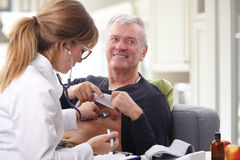 Doctor and senior patient royalty free stock photo
