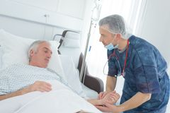 Doctor with senior patient Royalty Free Stock Images