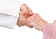 Doctor and Senior's Hands Royalty Free Stock Photography