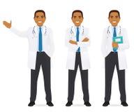 Doctor set black Stock Images