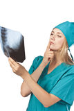 Doctor in shock. X-ray Stock Images