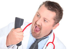 Doctor shouting Royalty Free Stock Photo