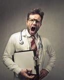 Doctor shouting Stock Photos