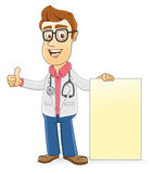 Doctor - Showing blank board Stock Photo