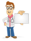 Doctor - Showing blank card Royalty Free Stock Photography
