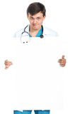 Doctor showing a board Stock Images