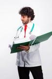 Doctor showing folder Stock Image