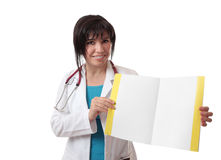 Doctor showing information Royalty Free Stock Photos