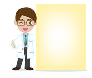Doctor Showing NotePaper Royalty Free Stock Photography