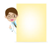 Doctor Showing NotePaper 0002 Royalty Free Stock Images