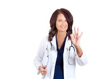 Doctor showing ok hand gesture Royalty Free Stock Photo