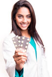 Doctor showing pills Stock Photo