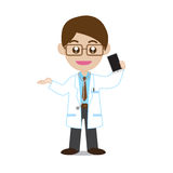 Doctor Showing Smartphone Stock Images