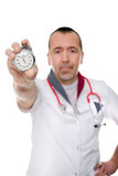 Doctor shows the important of preventive medicine Stock Photo