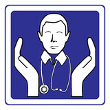 Doctor sign. Vector illustration of a doctor sign Royalty Free Stock Image