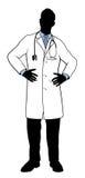 Doctor Silhouette stock illustration