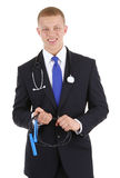 Doctor with a skipping rope Stock Image
