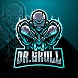 Doctor skull esport mascot logo