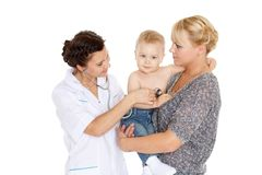 Doctor and small patien. Pediatrics. Royalty Free Stock Photo
