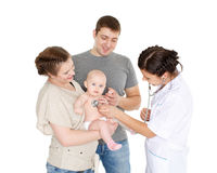 Doctor and small patien. Pediatrics. Royalty Free Stock Photography