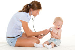 Doctor and small patient Stock Photography