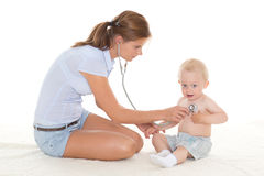 Doctor and small patient Royalty Free Stock Photos