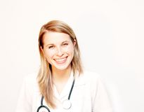Doctor smile. Photo of a doctor smile royalty free stock image