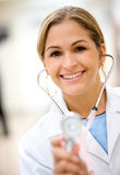 Doctor smiling Royalty Free Stock Photo