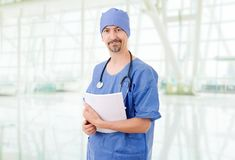 Doctor. Smiling hospital doctor at the hospital Royalty Free Stock Photography