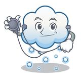 Doctor snow cloud character cartoon Royalty Free Stock Images