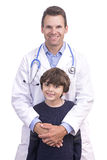 Doctor and son Stock Photo
