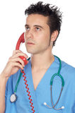 Doctor speaking on the phone Royalty Free Stock Photo