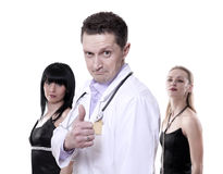 The doctor speaks well Stock Photo