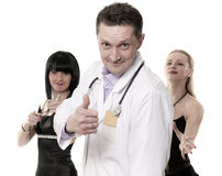 The doctor speaks well Royalty Free Stock Images
