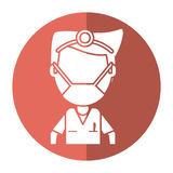 Doctor specialist mask medical shadow Royalty Free Stock Photo