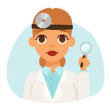 Doctor spetialist avatar face vector Royalty Free Stock Photos