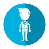 Doctor staff medical hospital shadow Royalty Free Stock Photography