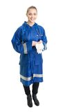 Doctor stand with surgical gloves Stock Images