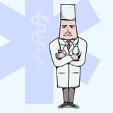 Doctor standing with crossed hands. Vetor illustration Stock Photography
