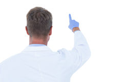 Doctor standing with finger up Stock Image
