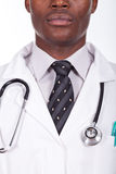 Doctor standing with a sthetoscop on the neck Royalty Free Stock Photography