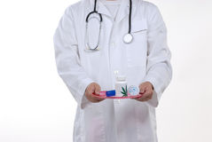 Doctor and stethoscope Royalty Free Stock Photo