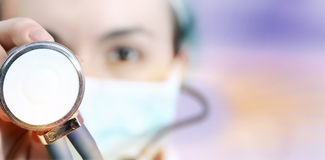 Doctor with stethoscope Royalty Free Stock Photo