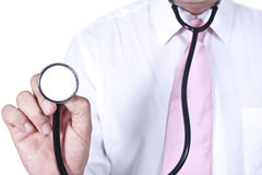 Doctor with stethoscope Royalty Free Stock Image