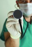 Doctor with stethoscope Stock Photo