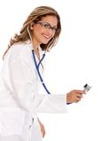 Doctor with a stethoscope Royalty Free Stock Photos