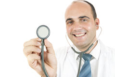 Doctor with a stethoscope Royalty Free Stock Photo