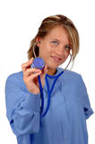 Doctor with stethoscope Royalty Free Stock Images